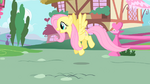 Fluttershy following the CMC S1E17