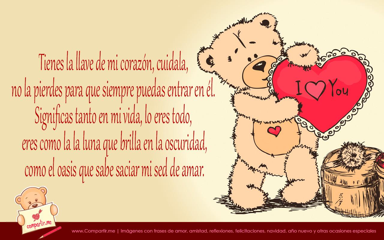 Imagen Imagenes De Amor 14 Frases De Amor Osito Con Corazon 1 Jpg