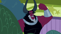 Lord Tirek admiring his own muscles S9E17