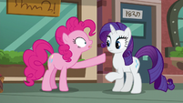 Pinkie Pie --And if you're coming with us, you can look at boutique-- S6E3