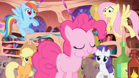 Pinkie Pie munching on spicy cupcake S1E01