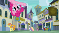 Pinkie points to restaurants from top of the screen S6E12.png