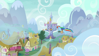 Rainbow follows her cutie mark to the castle S6E24