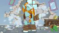 Rockhoof crashes into the classroom S8E21