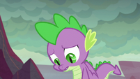 Spike having a bad feeling about this S9E9