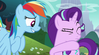 Starlight wiping spit off her face S6E6