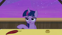 Twilight Sparkle looking exhausted S7E22