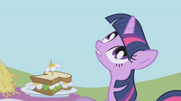 "Twilight looks up ""what's going on?"" S1E03"