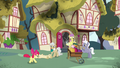 Apple Bloom runs up to Mayor Mare S5E4.png