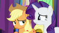 Applejack and Rarity in slight disagreement S7E1.png