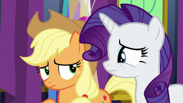 File:Applejack and Rarity in slight disagreement S7E1.png