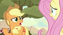 Applejack reminding Fluttershy S8E23