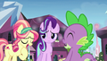 Crystal Pony 1 talking about Spike S6E1.png