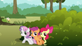 Cutie Mark Crusaders try to sneak away S6E19.png
