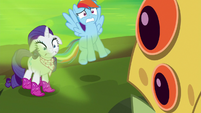 Dash and Rarity overwhelmed by bad breath S8E17