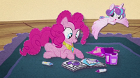 Flurry Heart flying around Pinkie Pie BFHHS3
