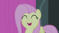 Fluttershy feeling happy while singing S4E14