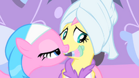 Fluttershy gets a cheek facial S1E20