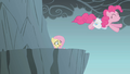 Fluttershy watches Pinkie Pie jump S1E06.png