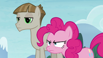Pinkie Pie glaring at Starlight Glimmer S8E3