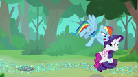 "Rainbow ""you didn't read mine either?!"" S8E17"