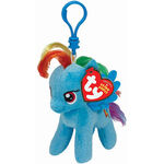 Rainbow Dash Ty Beanie Baby keychain