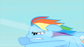 Rainbow Dash biting her lip while flying S1E16.png