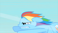 Rainbow Dash biting her lip while flying S1E16