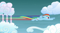 Rainbow Dash speeds through the sky S5E3