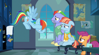 Rainbow Dash unable to contain her anger S7E7