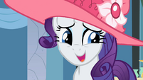 Rarity sweating and lying S2E9