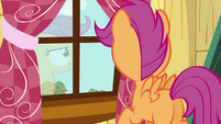 Scootaloo looking out of the window S3E06