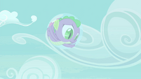 Spike stuck inside a bubble S4E25