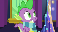 Spike wearing his new scarf S8E24