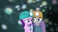 Starlight and Maud standing uncomfortably close