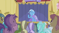 Trixie laughing with the crowd S1E06