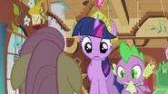 Twilight & Spike making sure S3E13