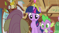 Twilight & Spike making sure S3E13