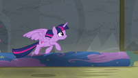 Twilight Sparkle about to fly after Celestia S8E7