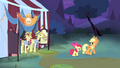 Applejack and Apple Bloom walking away S4E20.png