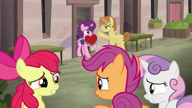File:Cutie Mark Crusaders worried about Big Mac's crush S7E8.png