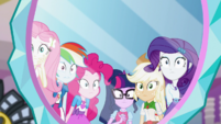 Equestria Girls' reflections in Juniper's mirror EGS3
