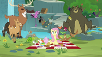 Fluttershy and animals hear Rarity S8E4