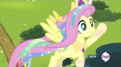Fluttershy as Princess Celestia