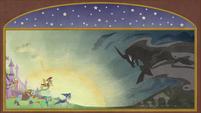 Illustration of Pillars facing the Pony of Shadows S7E25