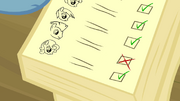 Notebook showing Thunderlane absent S2E22