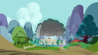 Ponyville covered by a dome S3E05