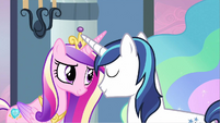 Princess Cadance & Shining Armor affectionate S2E25