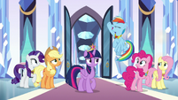Rainbow -wiped the castle with that guy!- S9E1