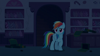 Rainbow Dash looks around the kitchen S6E15